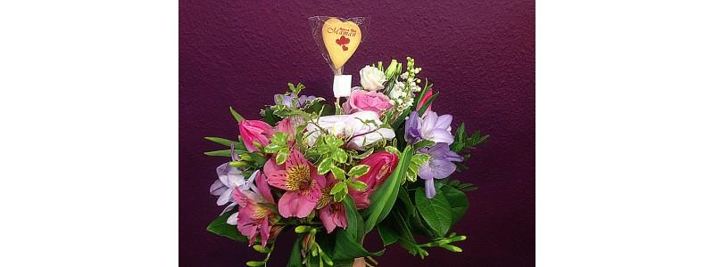 Décorez vos bouquets d'un pic gourmand adapté pour chaque fête
